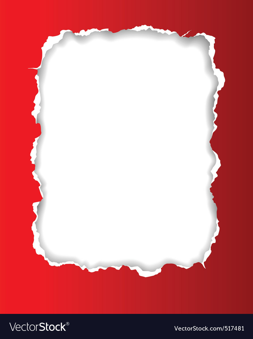 Torn paper frame