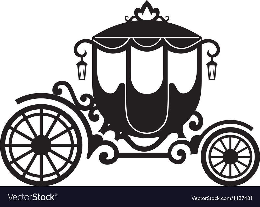 Vintage carriage vector image
