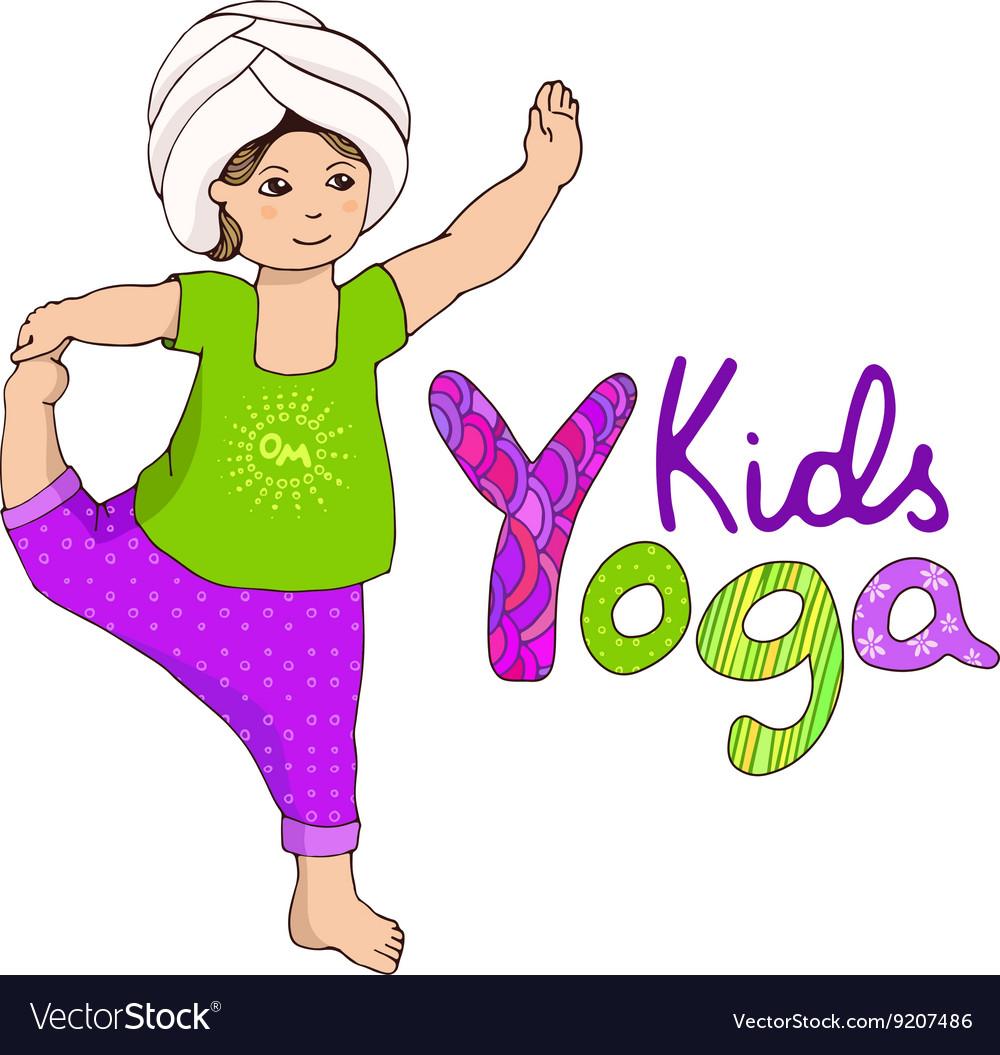 Cute girl doing kundalini yoga