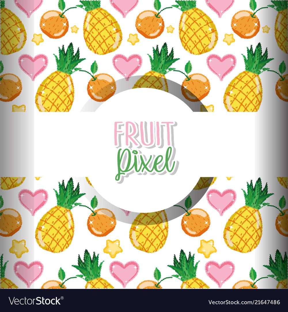 Fruit Pixel Background