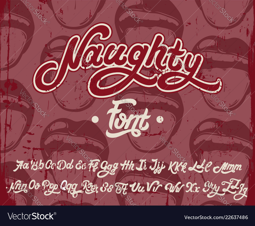 Handwritten calligraphic font with vintage