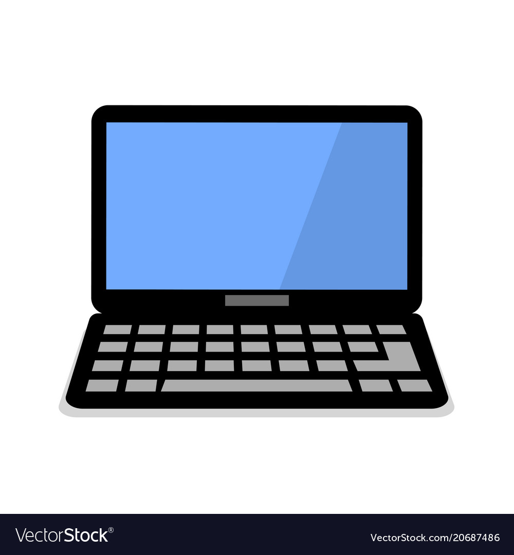 Laptop flat icon computer symbol