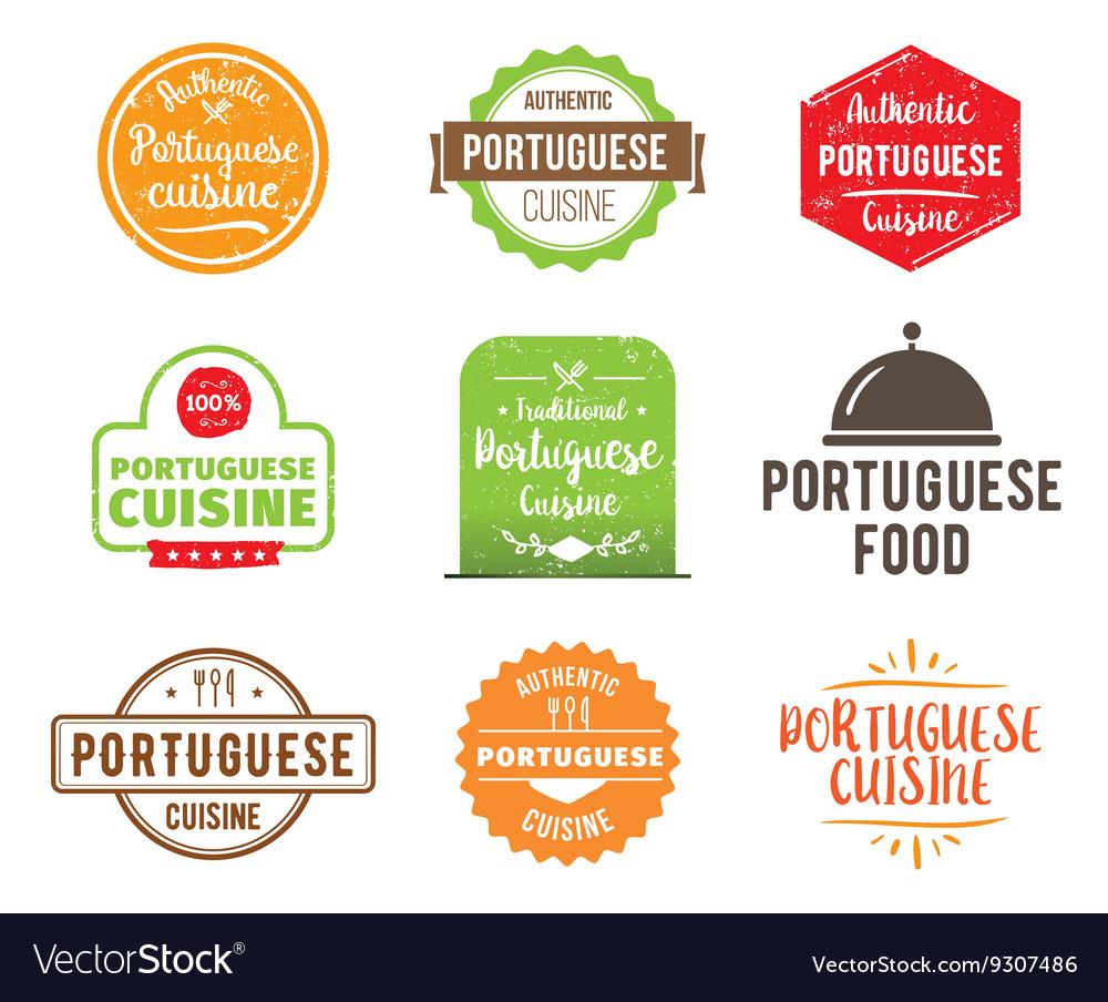 Portuguese cuisine label