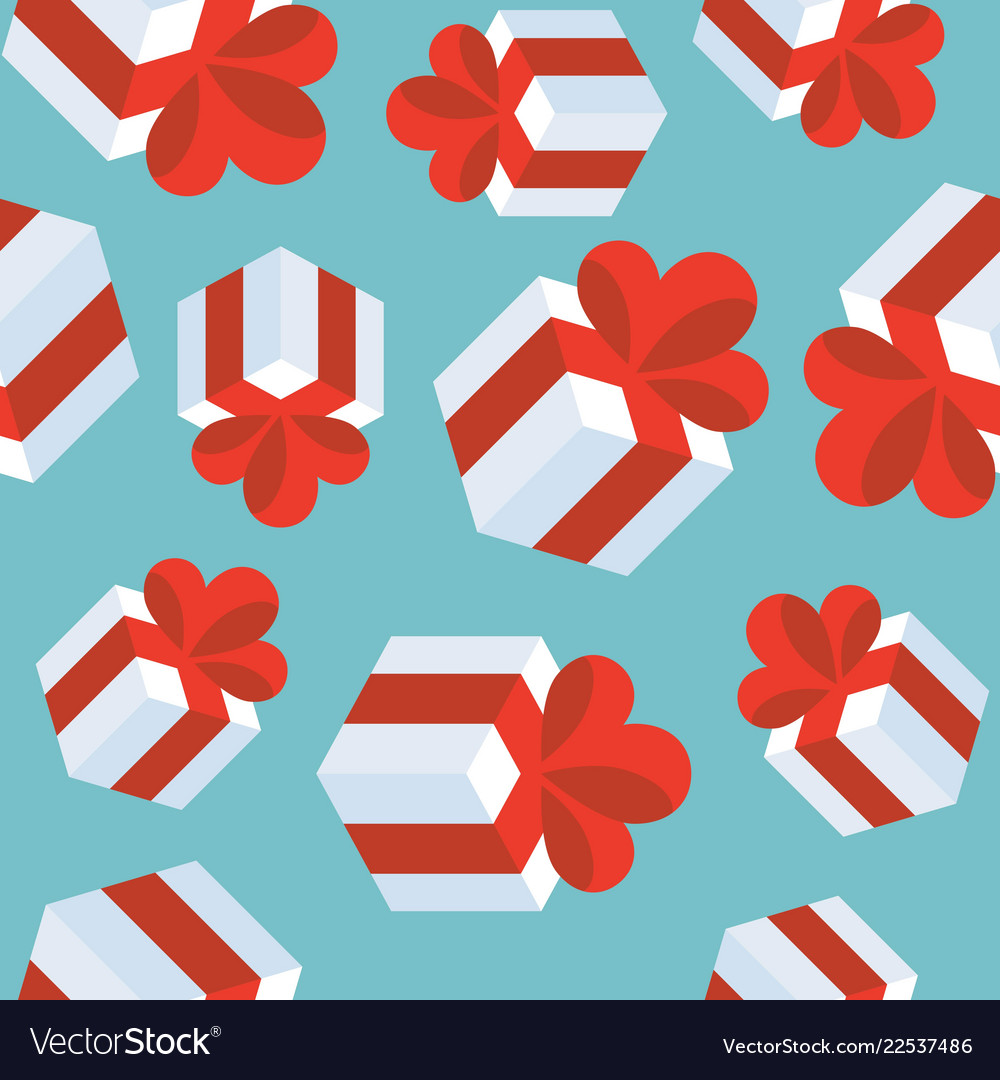 Present gift box seamless pattern suitable