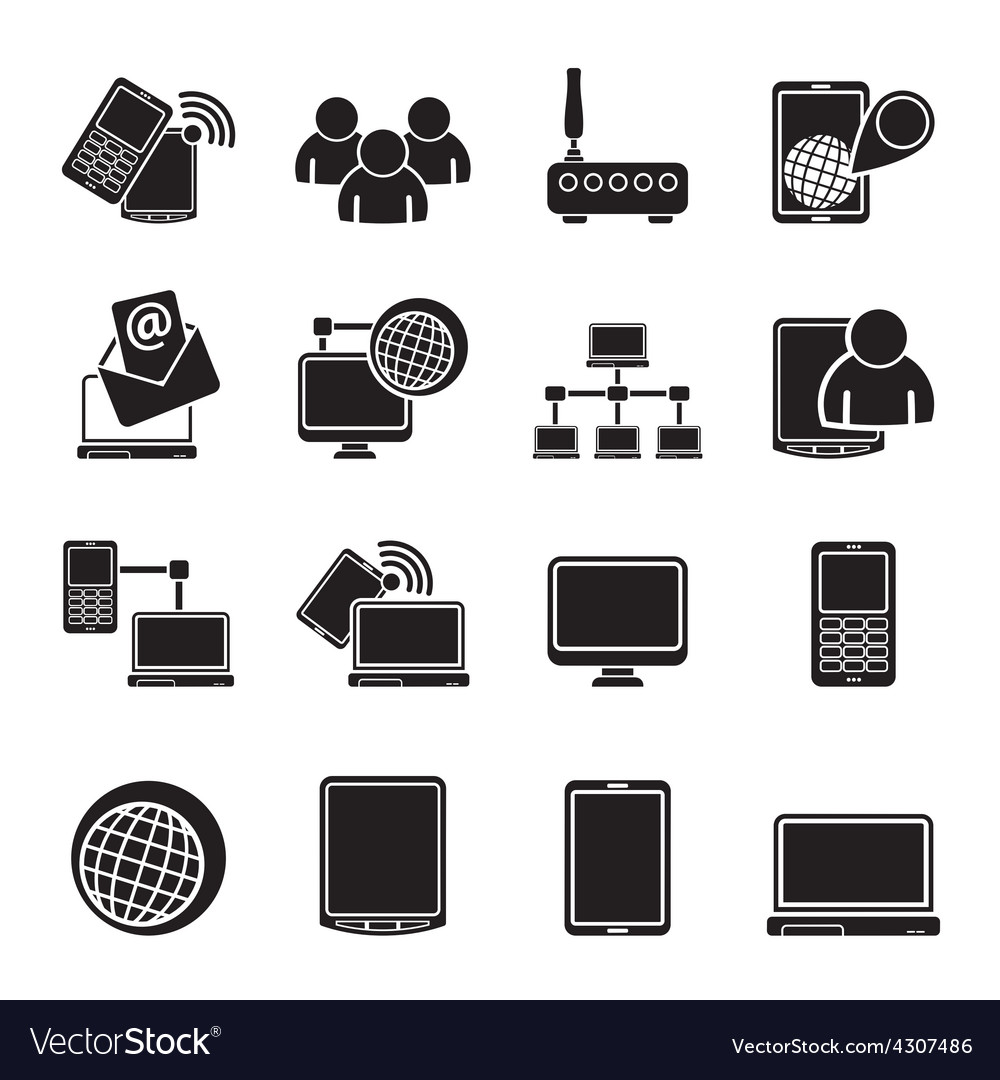 Silhouette Communication and technology equipment