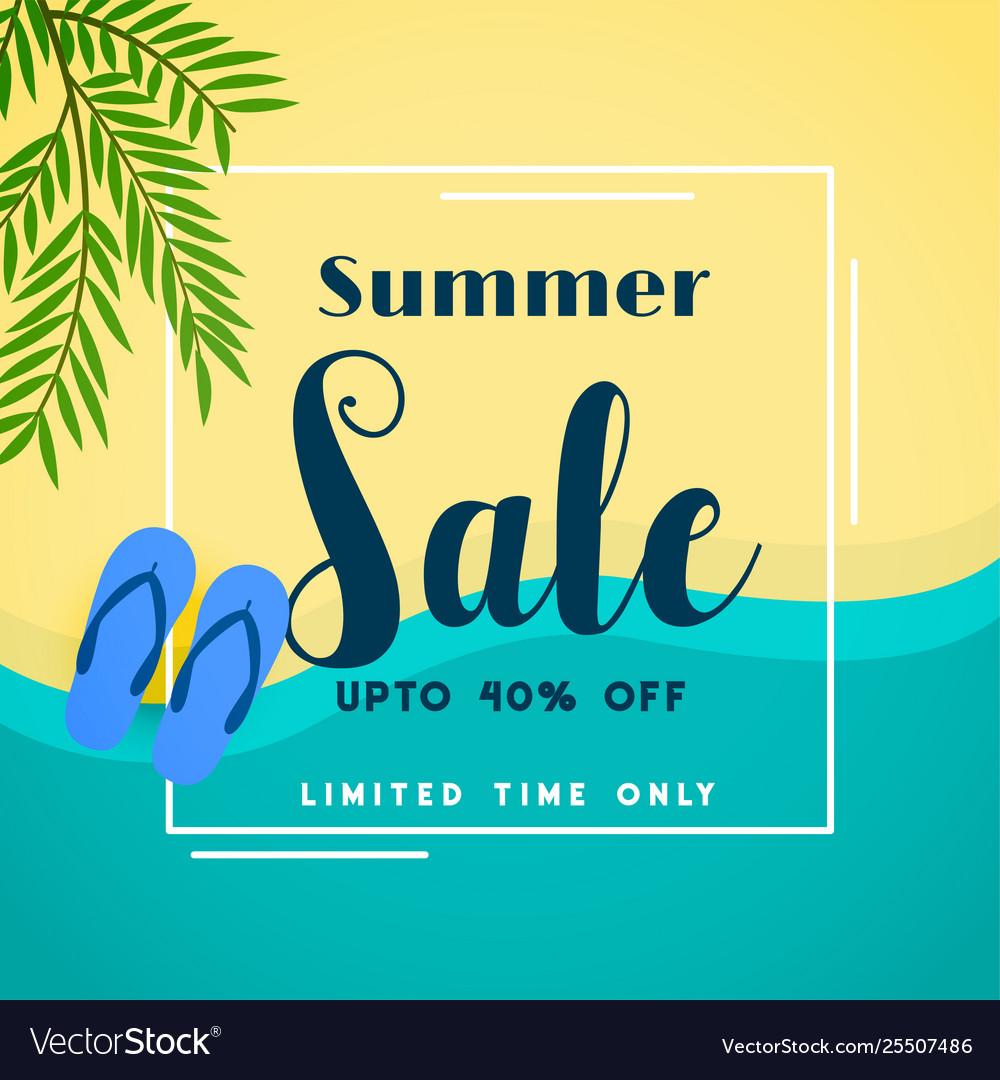 Summer sale top beach banner
