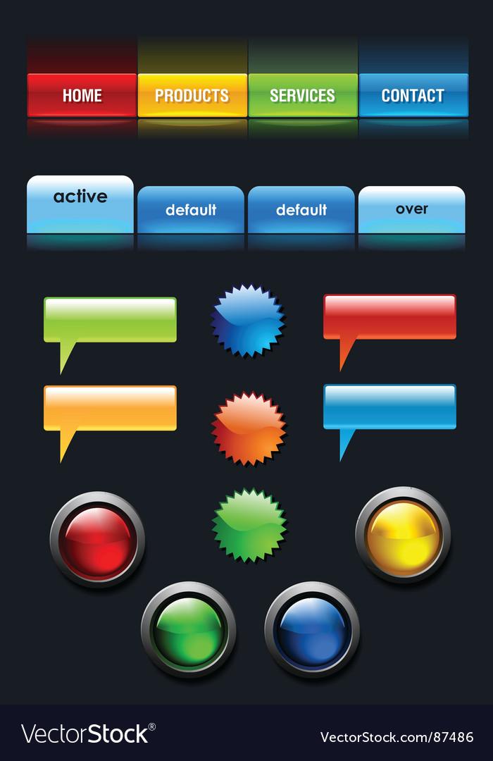Web user elements set