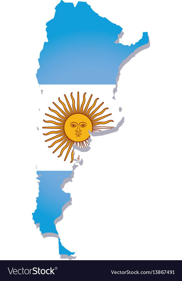 Argentina flag amp map Royalty Free Vector Image