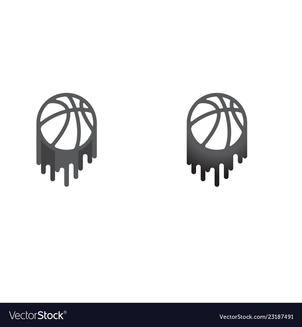 Basketball gray symbol