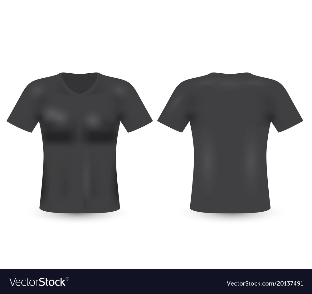 Blank T Shirt Template Black T Shirt Royalty Free Vector
