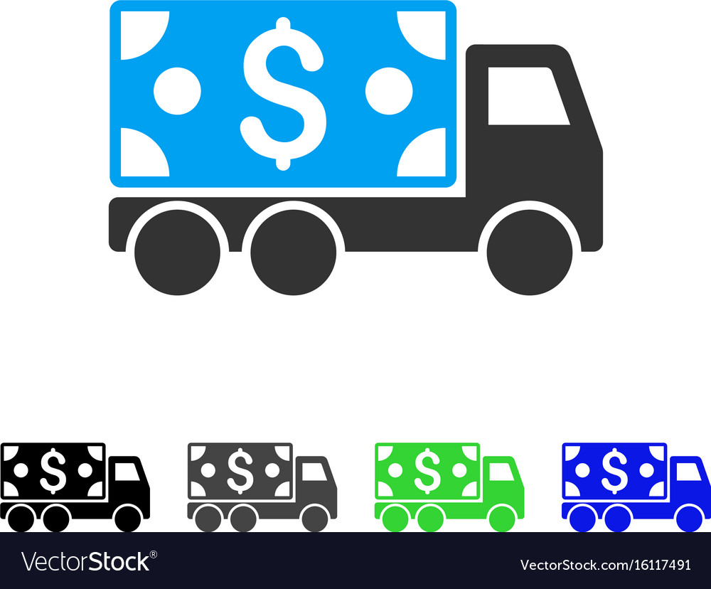 Cash delivery flat icon vector image