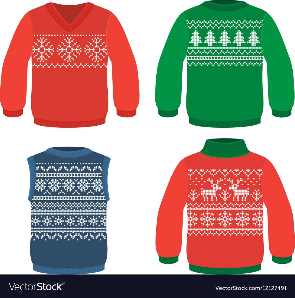 Christmas pattern sweaters