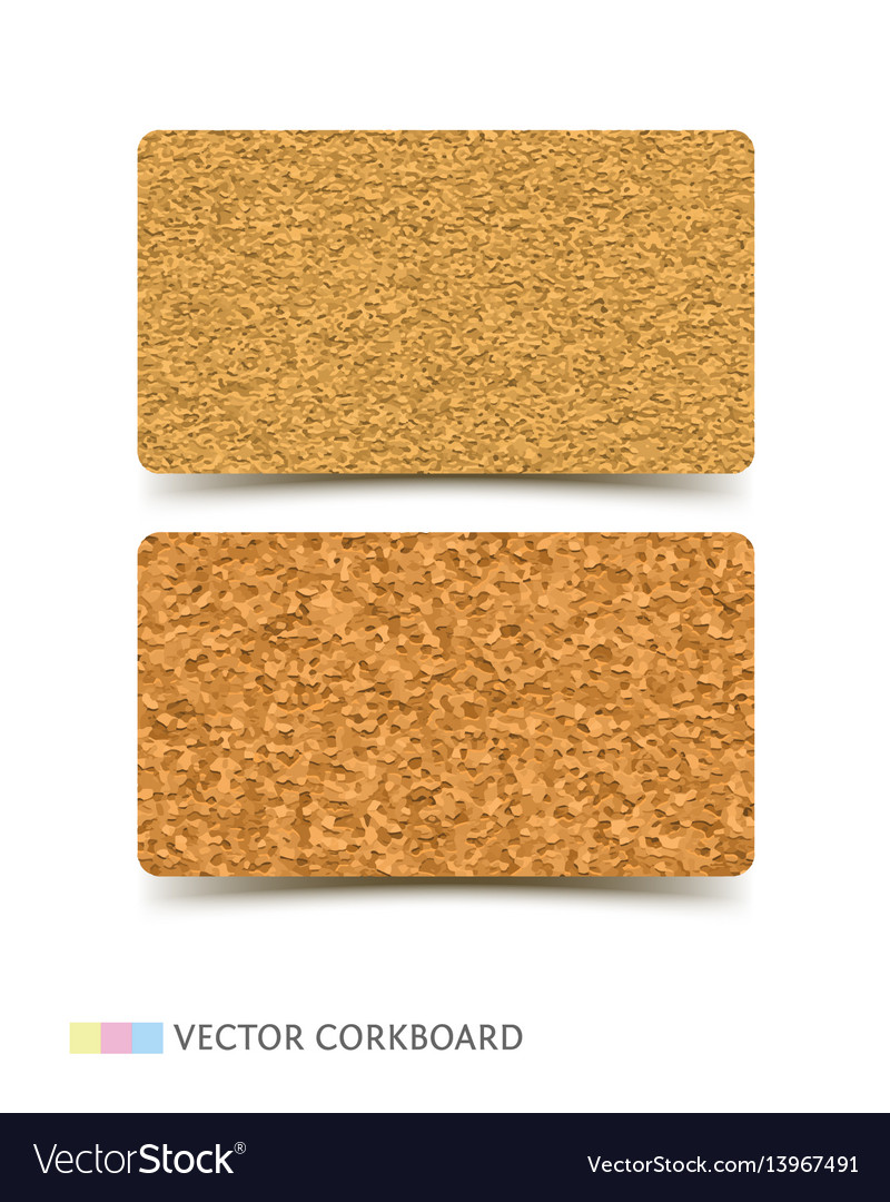 Cork board texture business card Royalty Free Vector Image