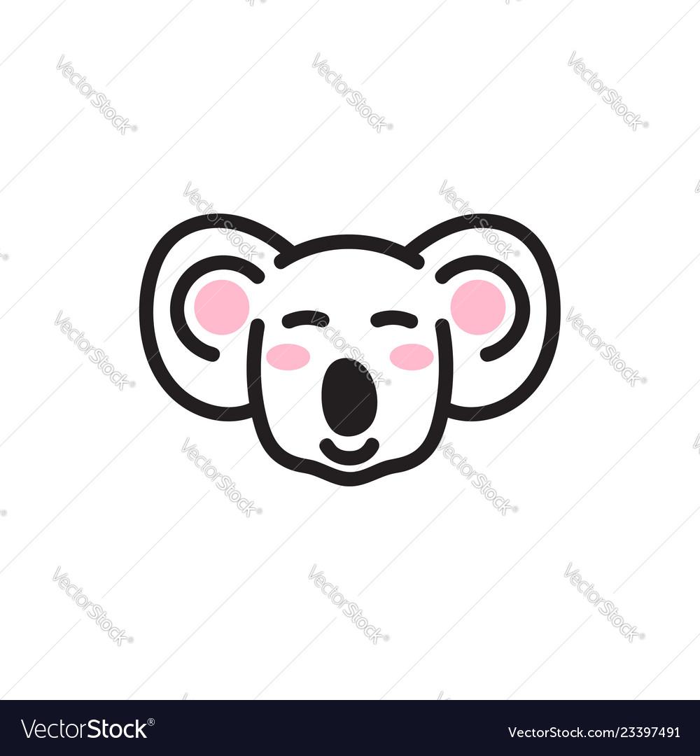 Cute koala bear head icon