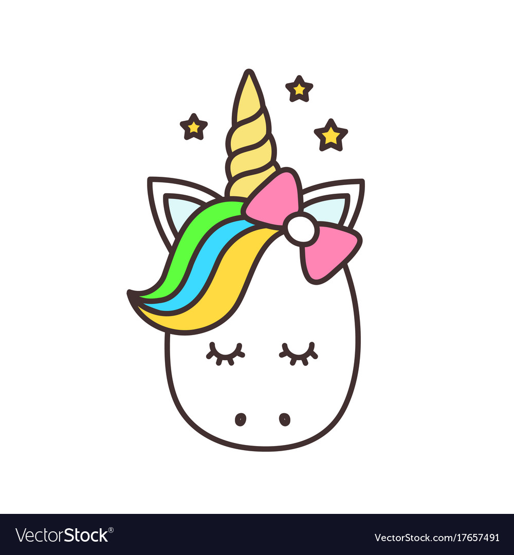 cute unicorn cartoon character royalty free vector image rh vectorstock com free vector unicorn free vector unicorn rainbow