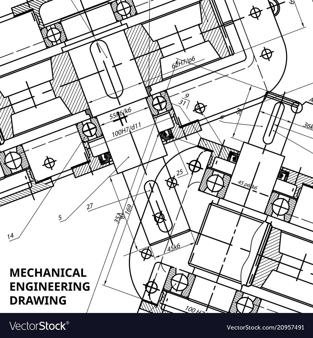 Mechanical engineering drawing engineering