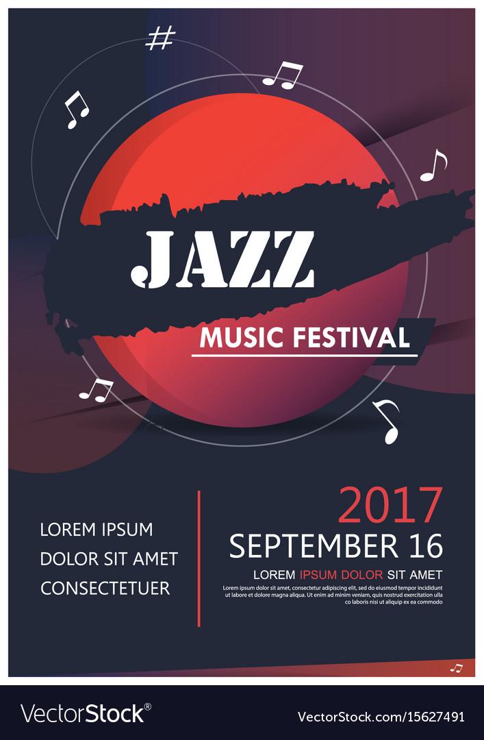 Music party jazz band poster jazz club fun music