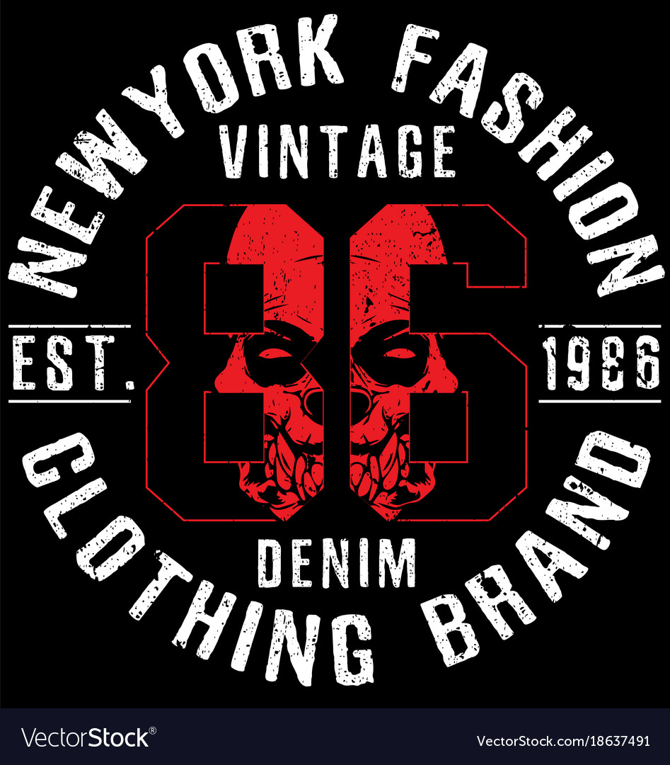 Newyork fashion tee typography graphic design