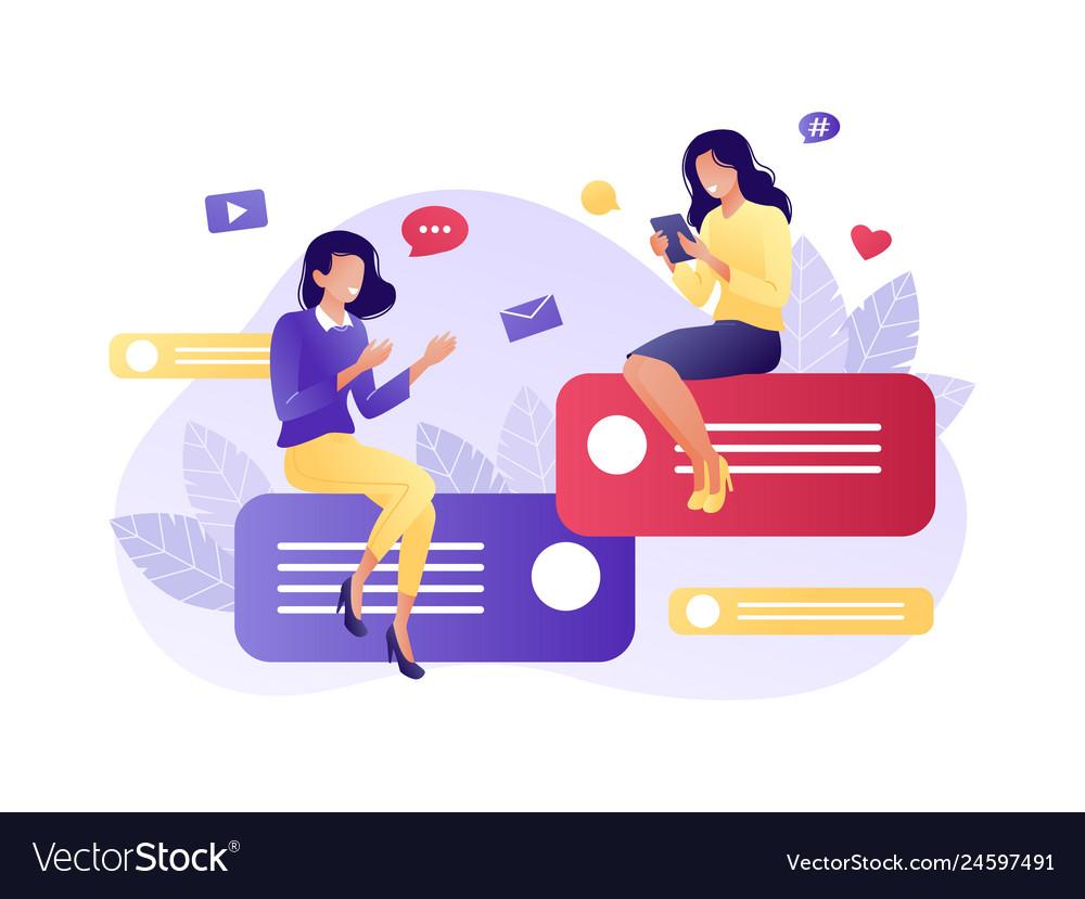 Online communication social media network