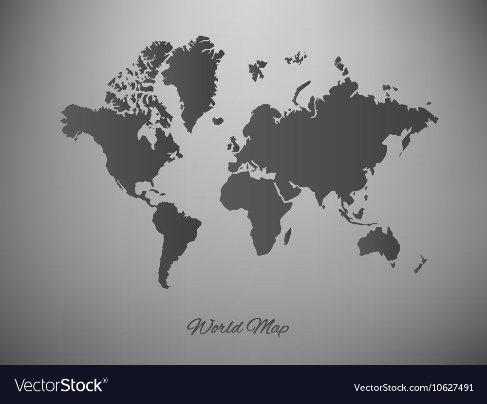 Paper world map on a white background royalty free vector paper world map on a white background vector image gumiabroncs Gallery