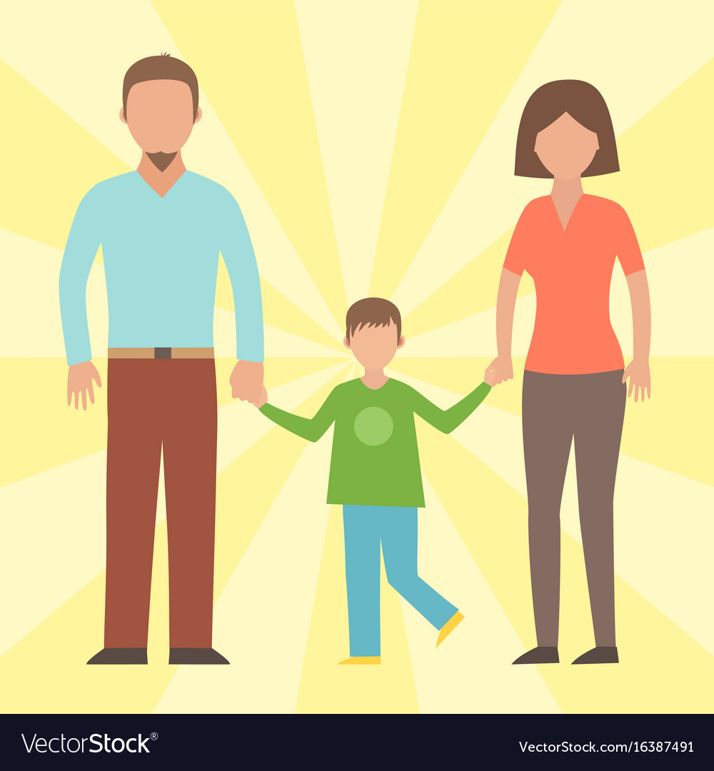 People happy family cartoon relationship