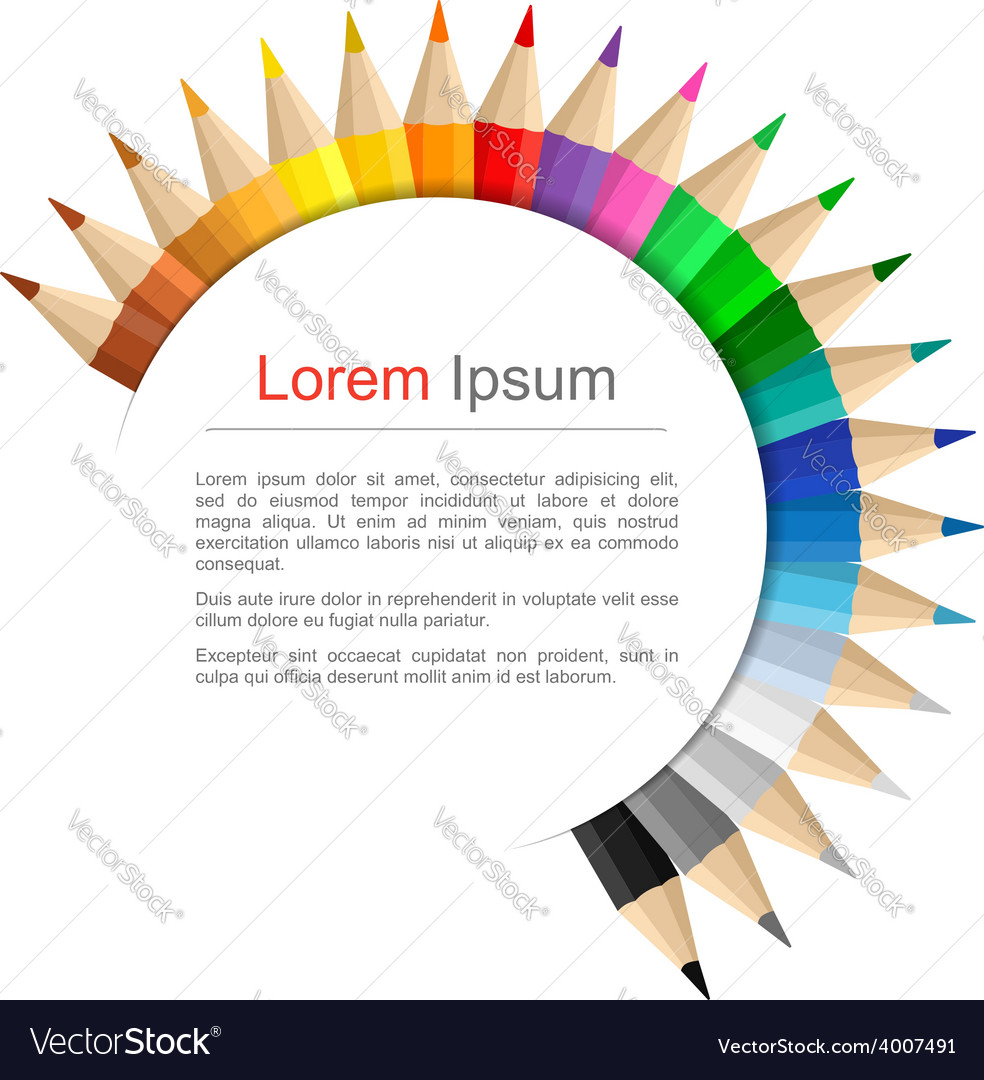 Round Education Banner vector image