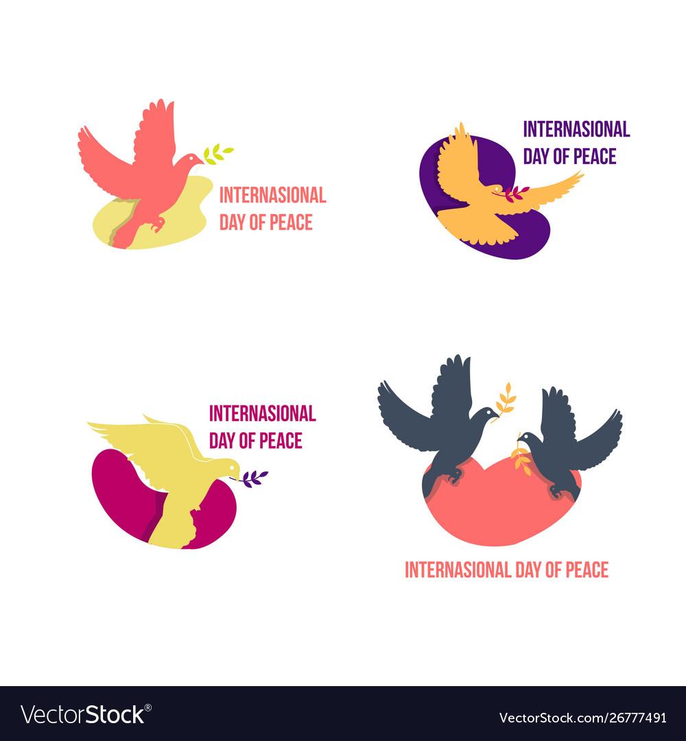 Set international peace day icon