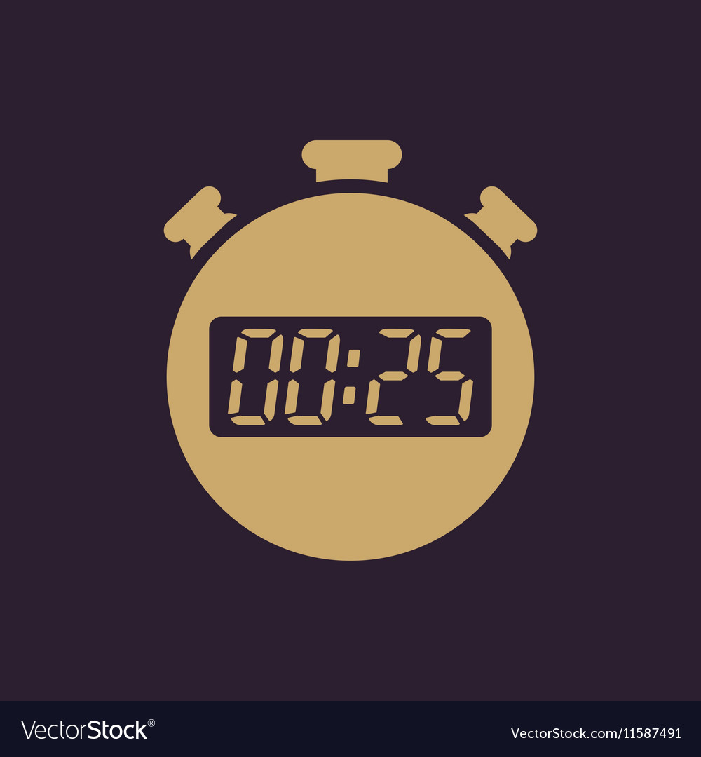 The 25 seconds minutes stopwatch icon Clock and