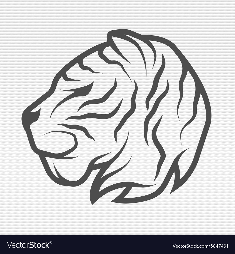 The Tiger Symbol Logo Royalty Free Vector Image