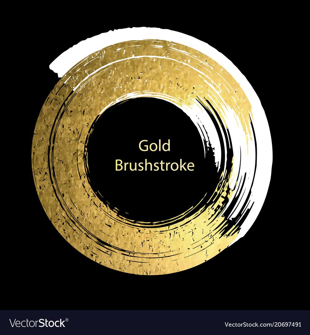 White and gold brushstroke design templates for