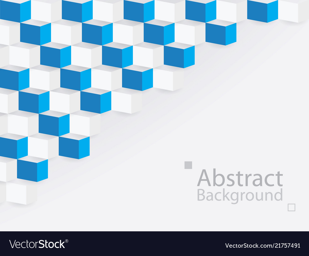 White blue abstract background square 3d modern
