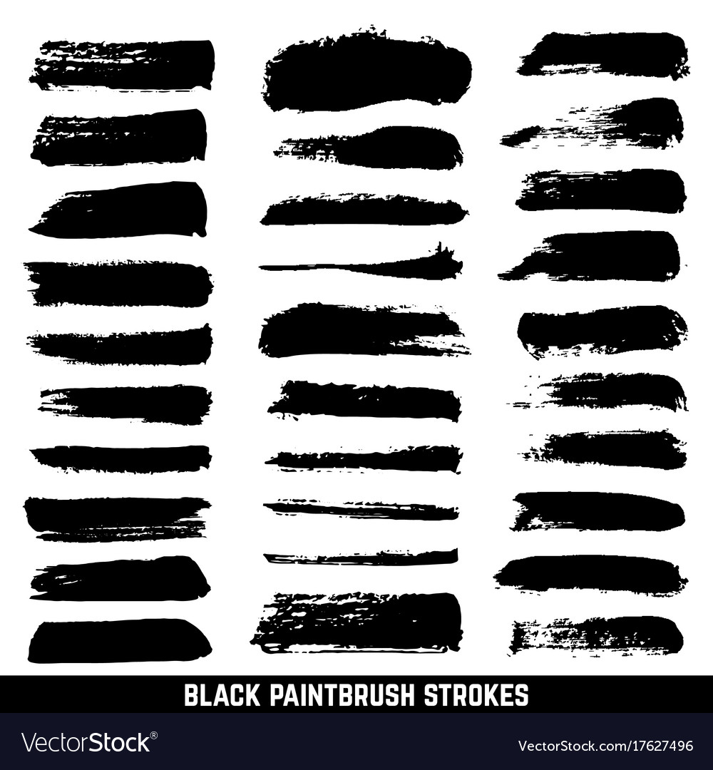 Artistic ink paint blob brushes inked vector image