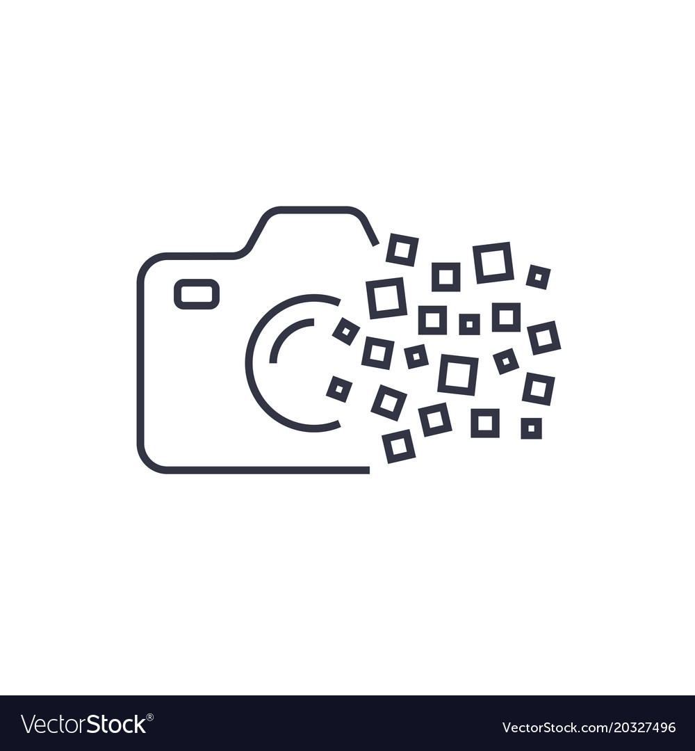 Camera Photography Logo Icon Template Digital Vector Image
