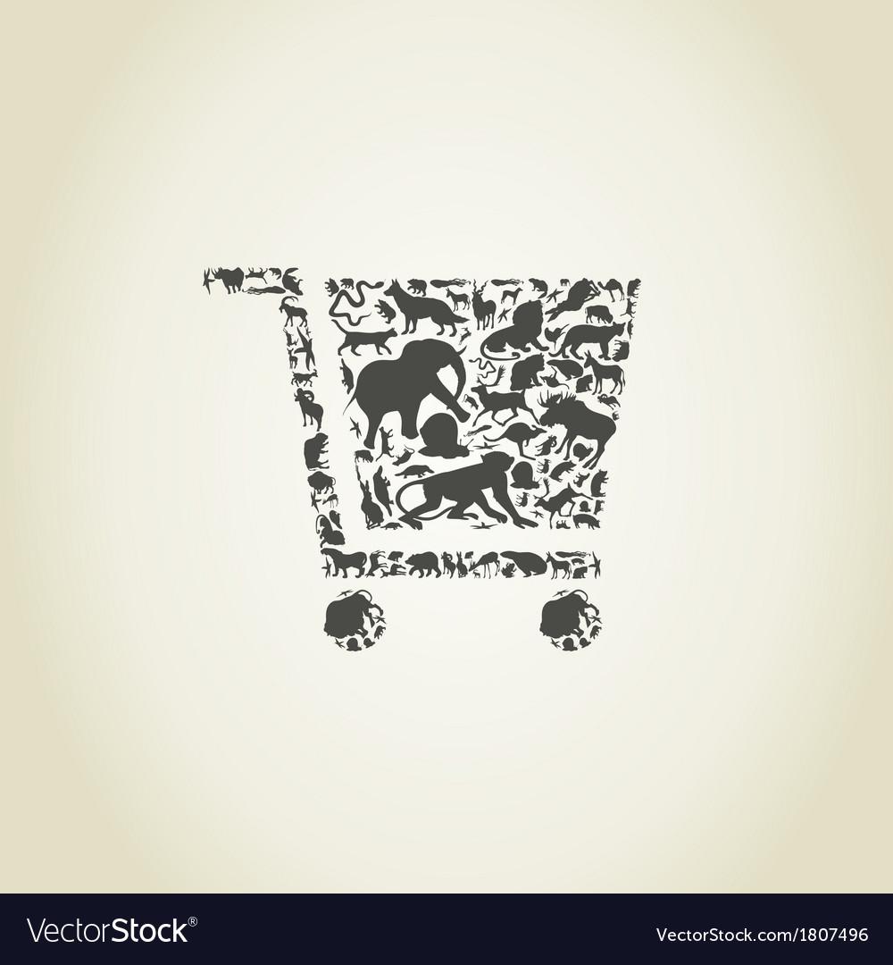 Cart an animal