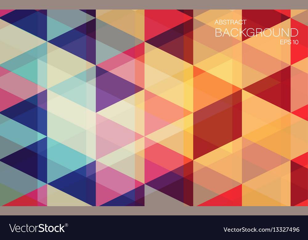 Flat geometric triangle wallpaper for you design
