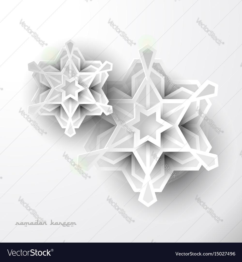 Geometric art ramadan greeting celebration