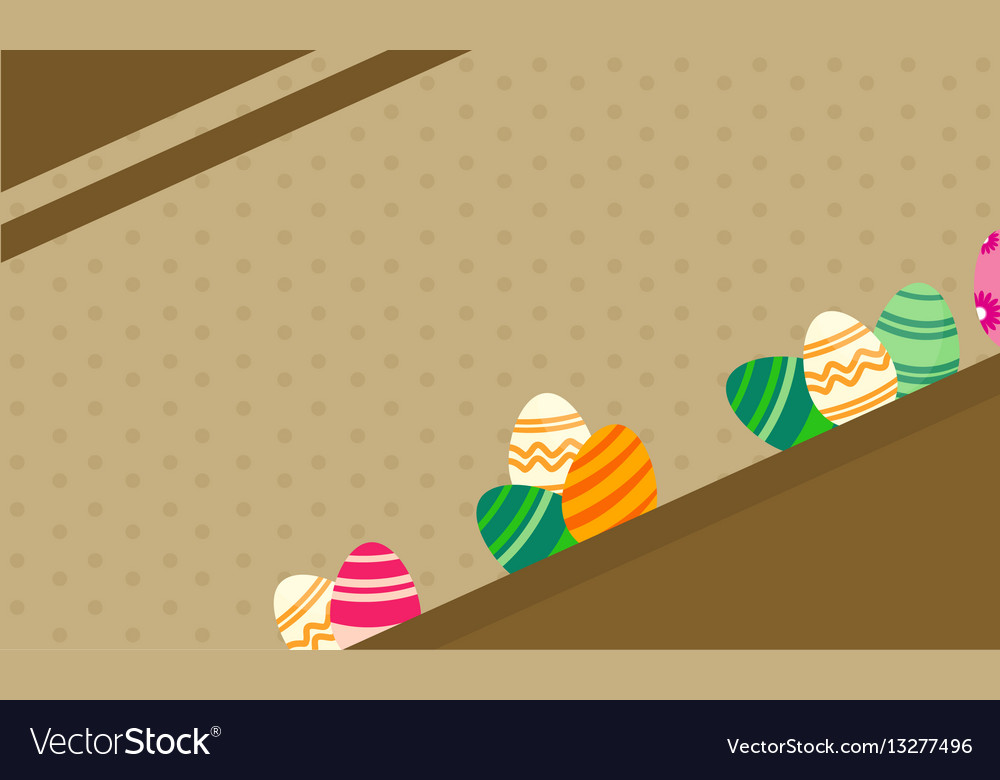 Greeting card of easter theme backgrounds vector image m4hsunfo