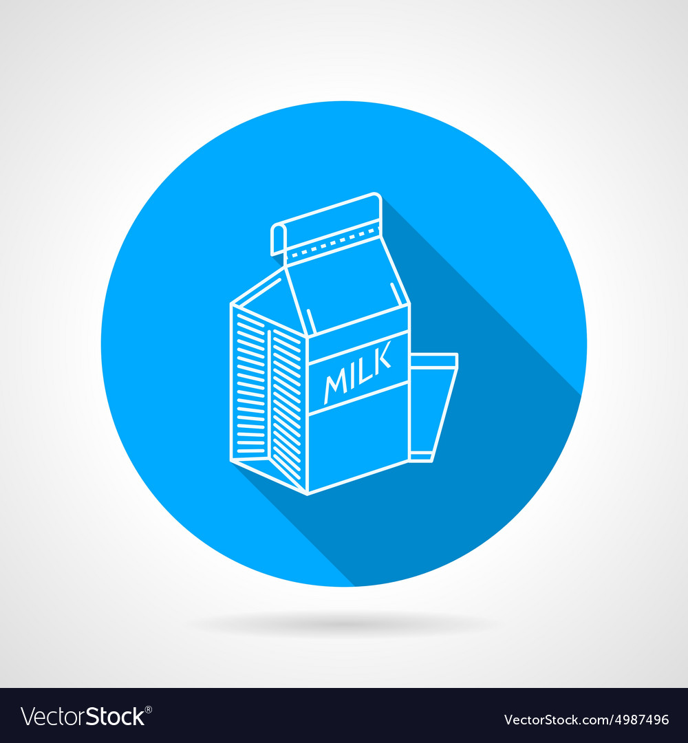 Line icon for milk pack vector image