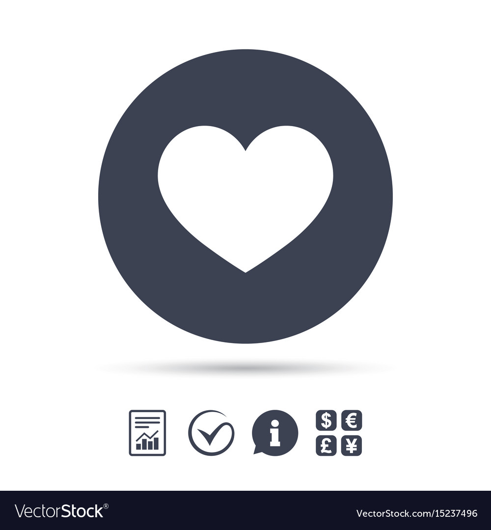 Love Icon Heart Sign Symbol Royalty Free Vector Image
