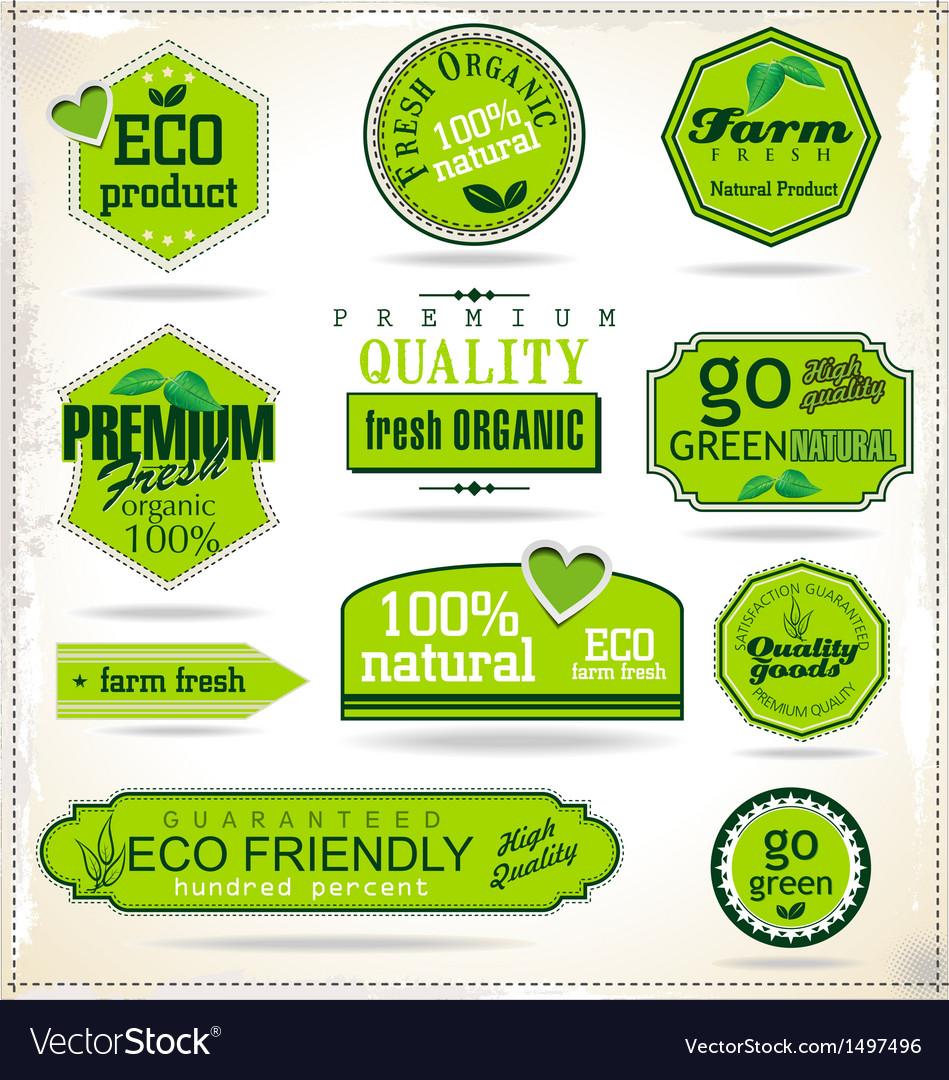 Set of organic labels