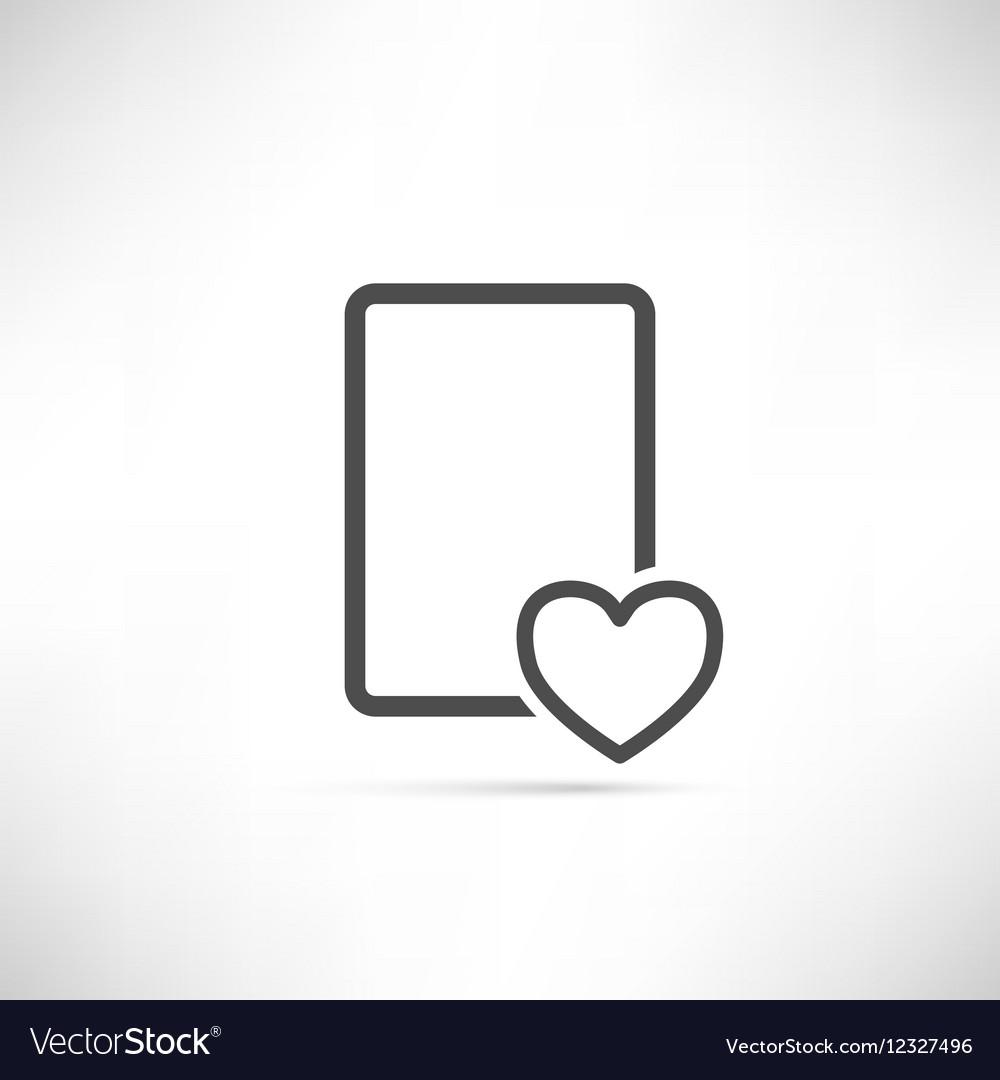 Wish List Icon Heart Empty