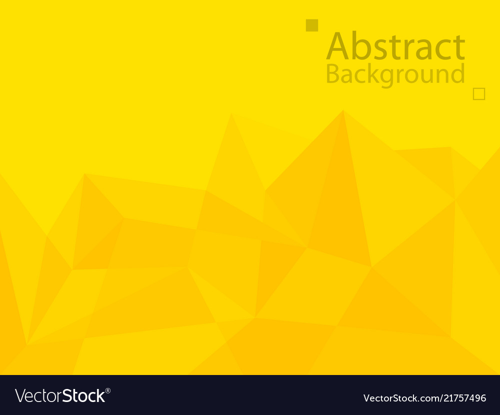 Yellow orange technology background triangle