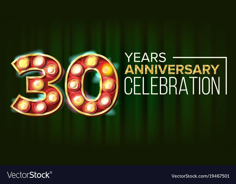 30 years anniversary banner thirty vector image