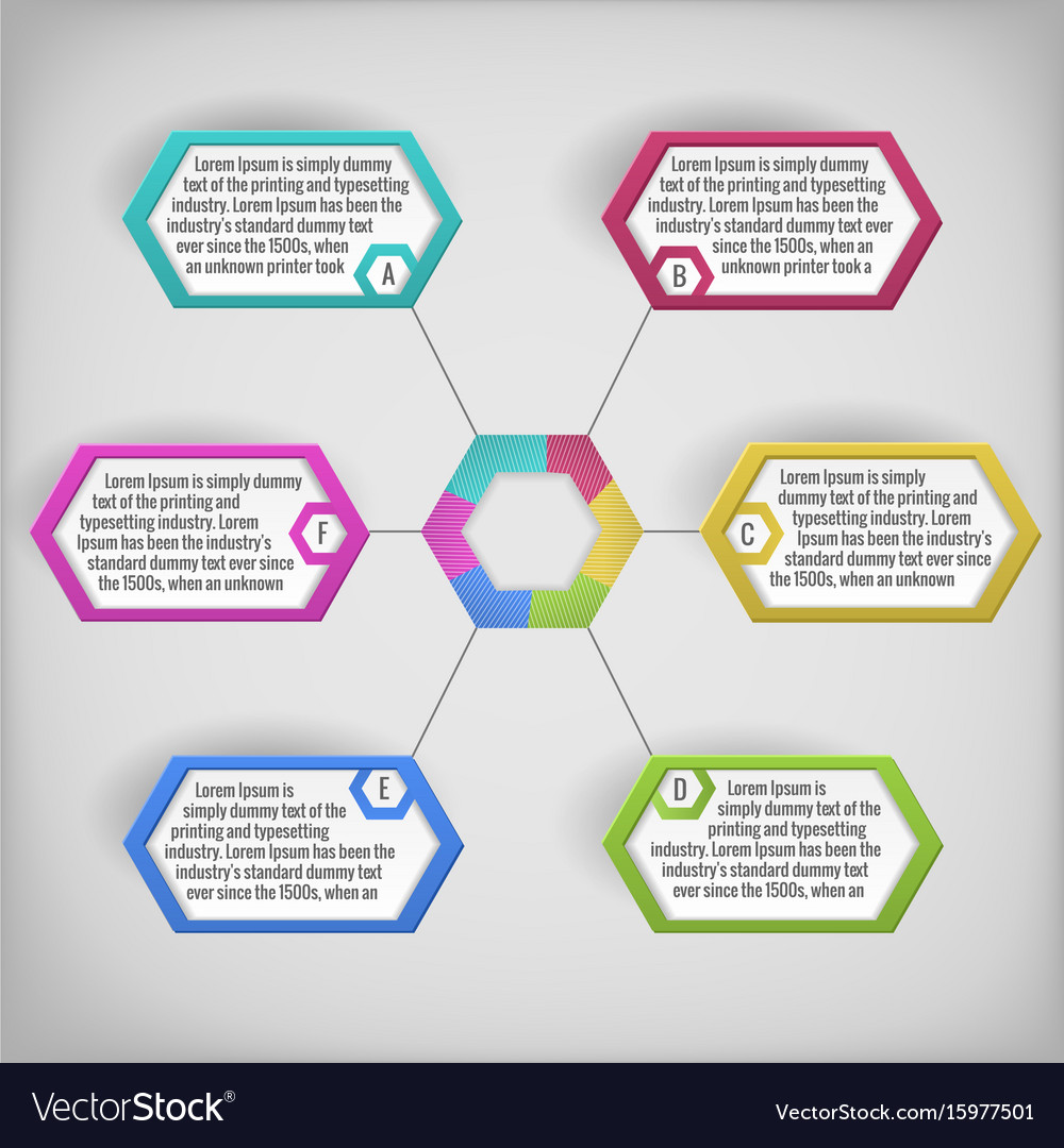 Abstract diagram template