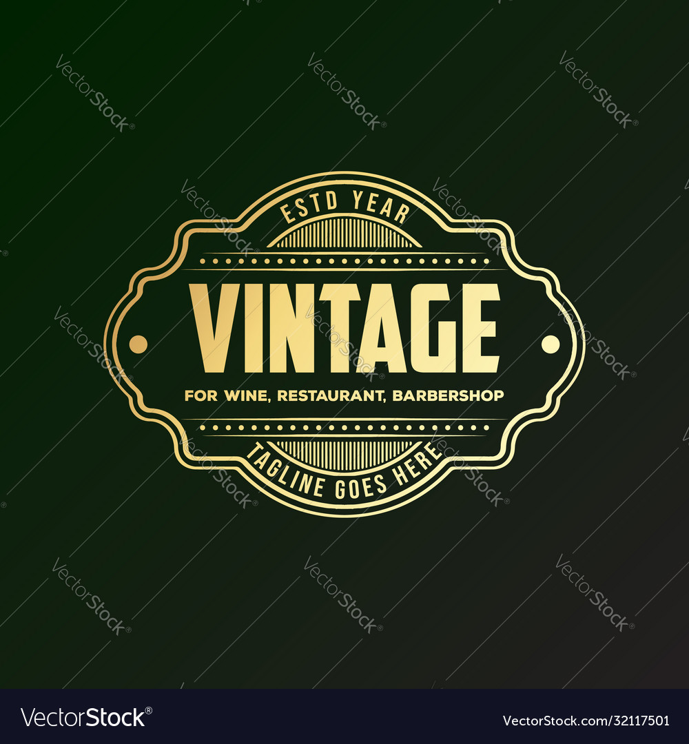 Retro vintage borders and signs for badges labels
