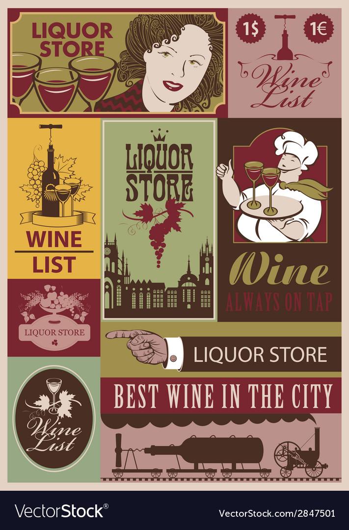 Wine retro set