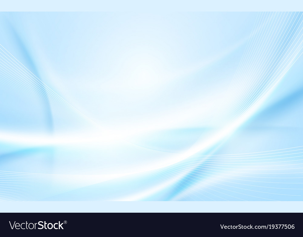 Abstract soft blue wavy with blurred light curved