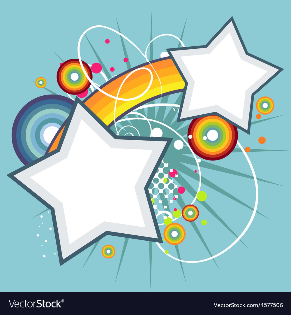 Abstract star funky background Royalty Free Vector Image
