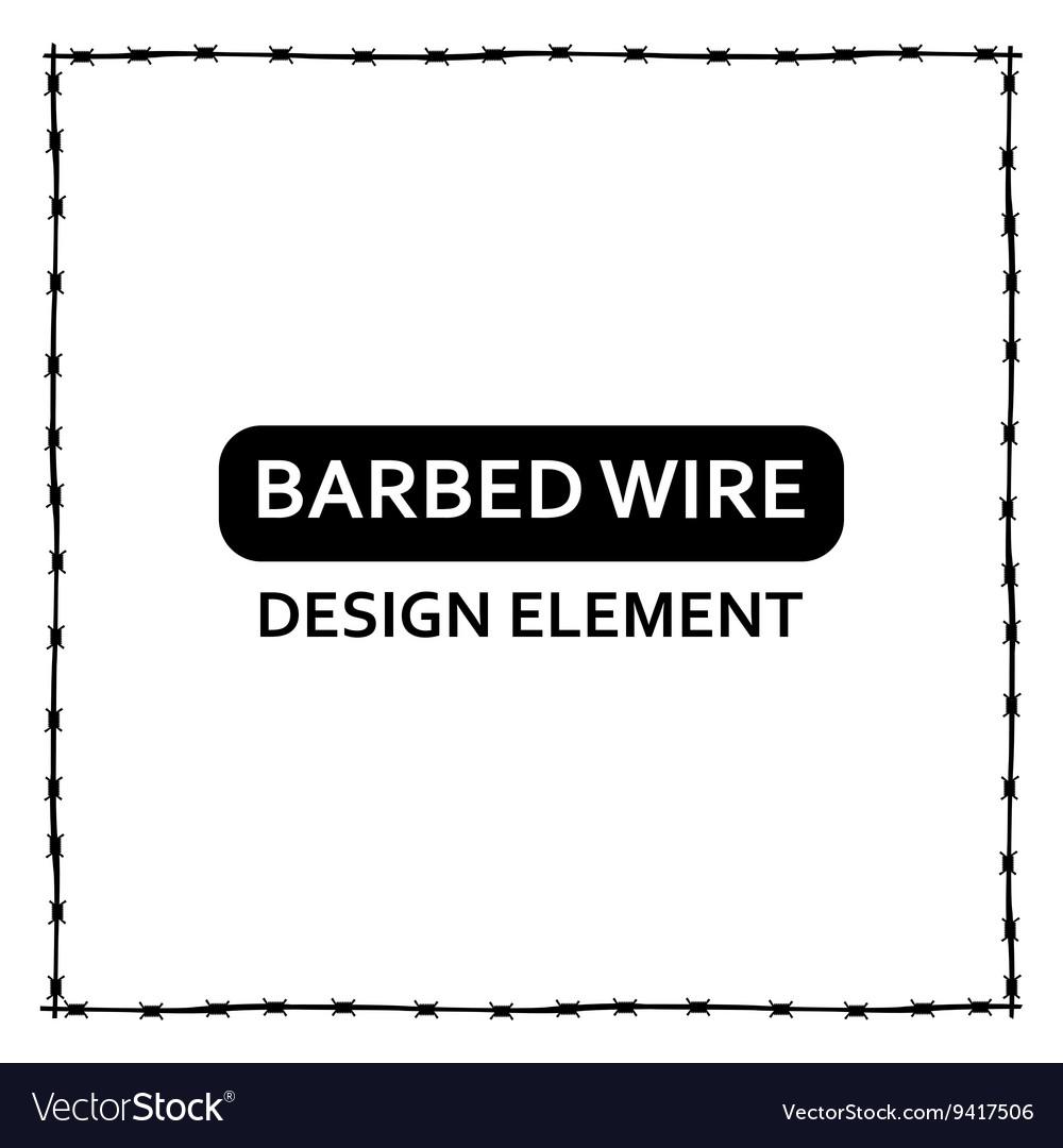 Black barbed wire frame