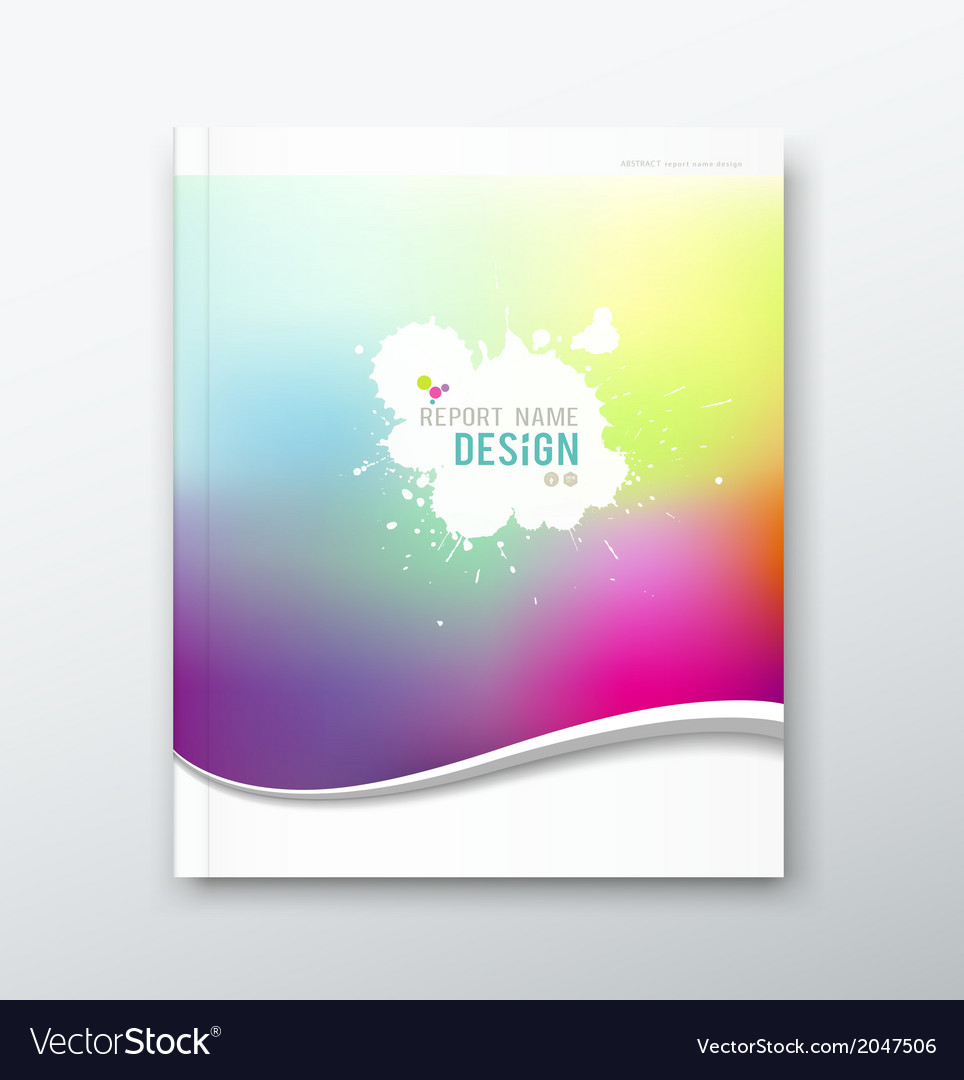 Cover annual report abstract watercolor design